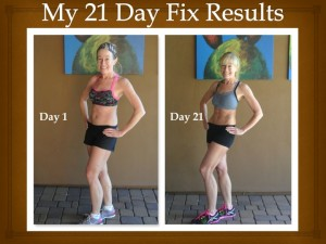 Amy's 21 Day Fix Results