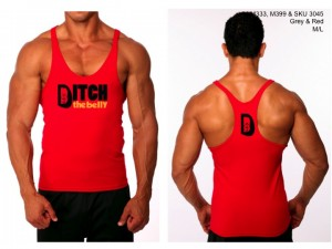 Stringer Tank Red & Gray